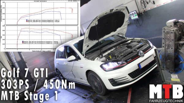 Golf 7 GTI auf Pruefstand leistungssteigerung
