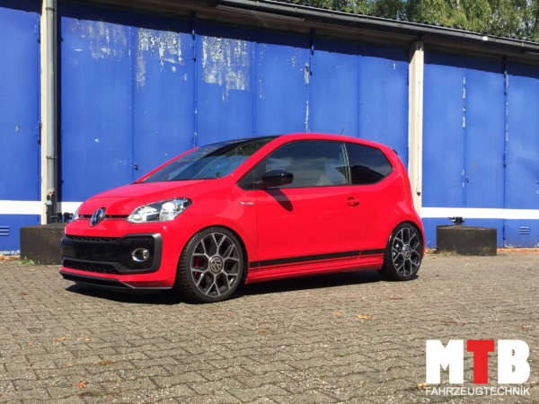 up! GTi gewindefahrwerk tuning tieferlegung lowered coilovers maximale tiefe restgewinde