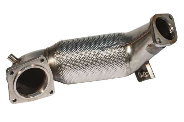 89>>>70mm Downpipe mit 300 Zellen HJS Sport-Kat. Hyundai i30 PDE 680516AT-DPKAHJS